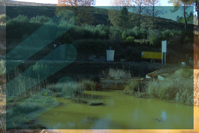Limpeza, extração e desidratação  das lamas geradas pelo Tratamento de Efluentes da Mina de Jales